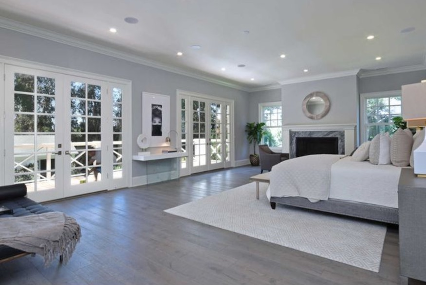 Kyle Richards' home: master bedroom with all the things