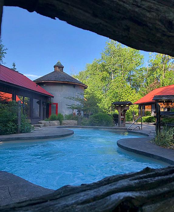 Shot of pool at Scandinave Spa Blue Mountain