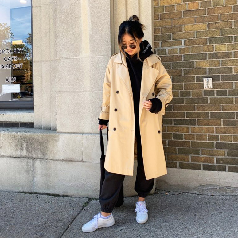 fall outfits trenchcoat