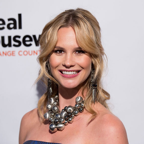 Meghan King Edmonds arrives for the premiere party for Bravo's 'The Real Housewives of Orange County' 10 Year Celebration at Boulevard3 on June 16, 2016 in Hollywood, California.