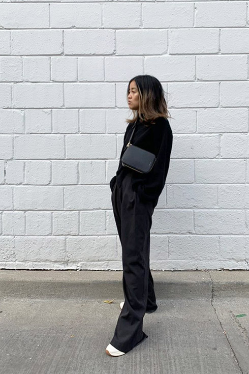 rachel flared jeans black outfit