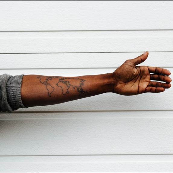 Minimal tattoo ideas: Wanderlust