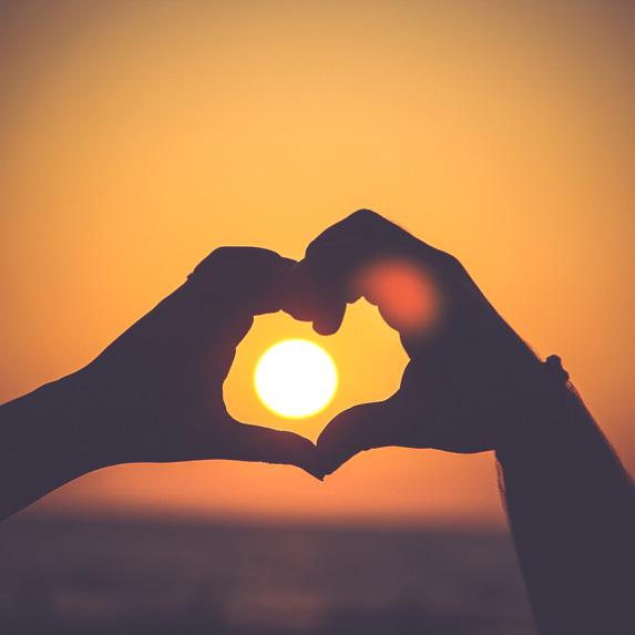 hands creating hearts