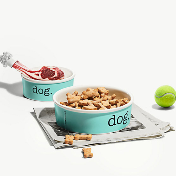 Tiffany & Co. bone china pet bowls for cats and dogs