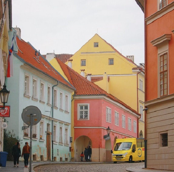 Colourful old European city