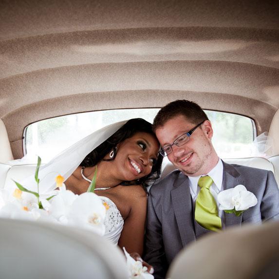 An interracial couple