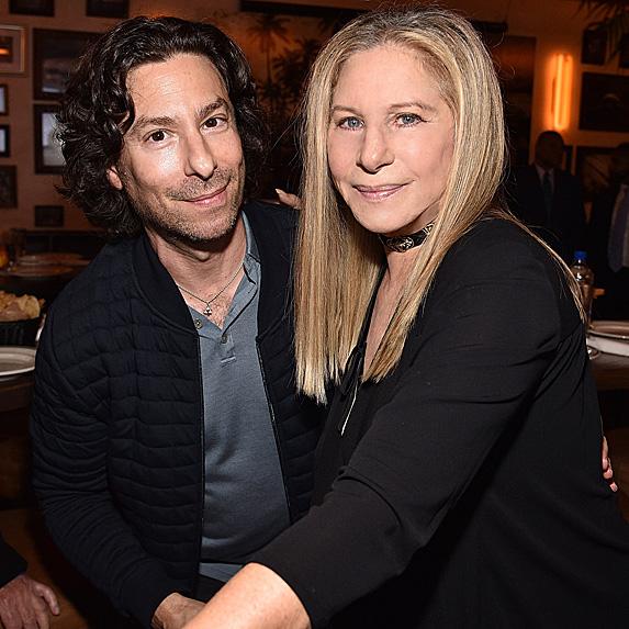 Jason Gould and Barbra Streisand