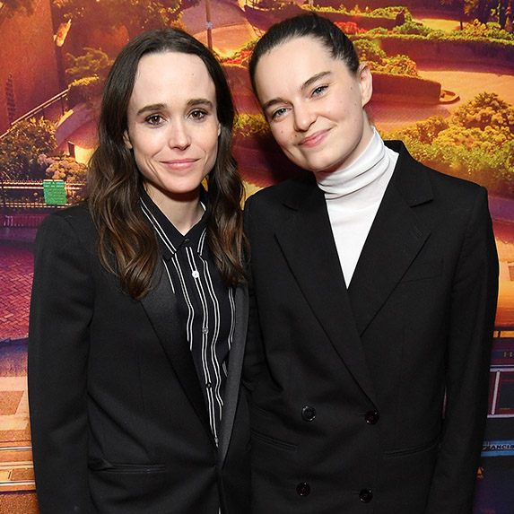 Ellen Page and Emma Portner twinning