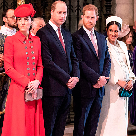 Duchess Kate, Prince William, Prince Harry and Duchess Meghan