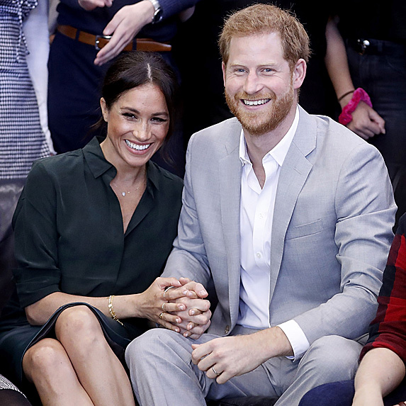 Duchess Meghan and Prince Harry laughing