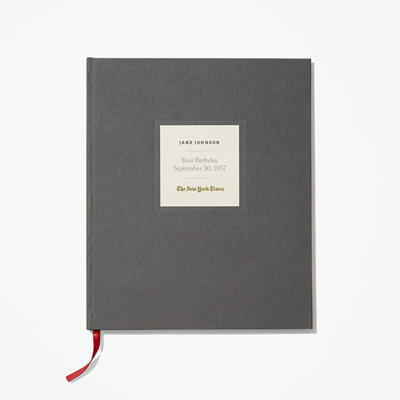 Gifts for Difficult People: New York Times Custom Birthday Book