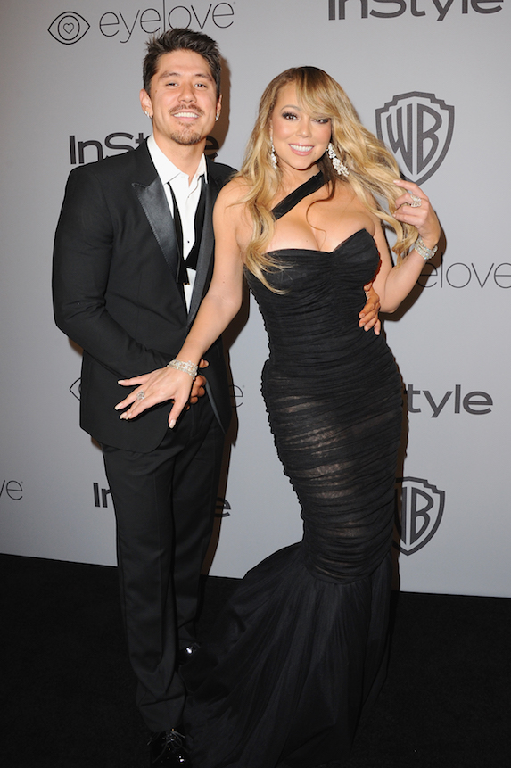 Mariah Carey poses with boyfriend and dancer Brian Tanaka on the red carpet in 2018