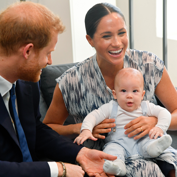 Prince Harry and Meghan Markle with infant son, Archie