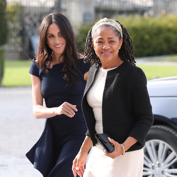 Meghan Markle with her mom, Doria Ragland, the day before her May 2018 nuptials