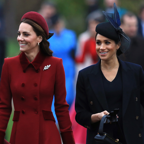 Duchess Kate and Duchess Meghan attend the Christmas Day church service in 2018