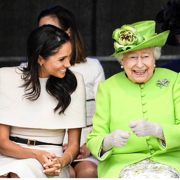 Duchess Meghan shares a laugh while attending royal events with Queen Elizabeth