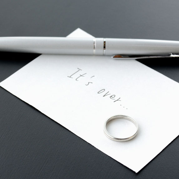 Card and wedding ring