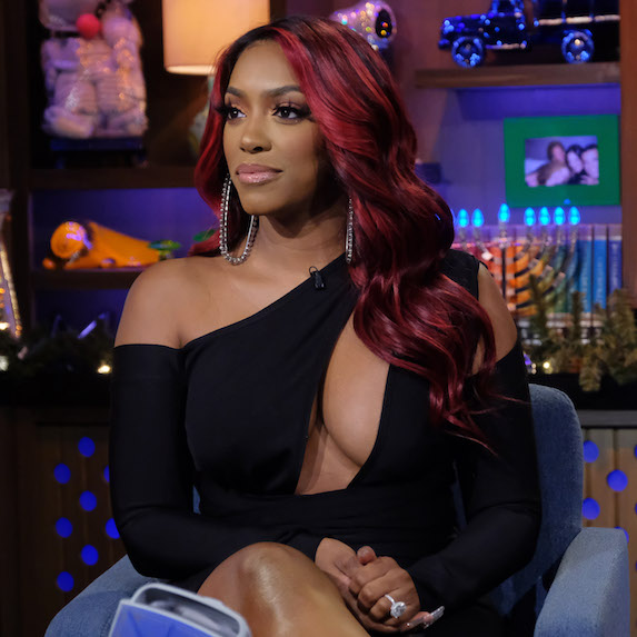Porsha Williams on a taping of Watch What Happens Live.