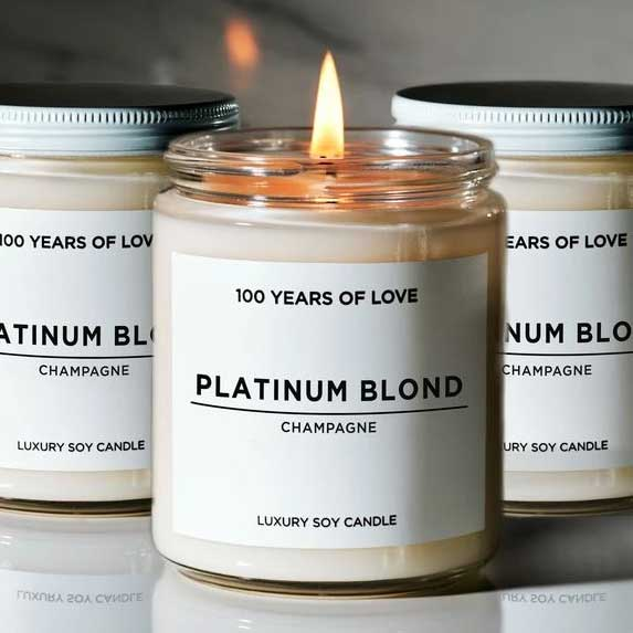 Beautiful candles from 100 Years of Love