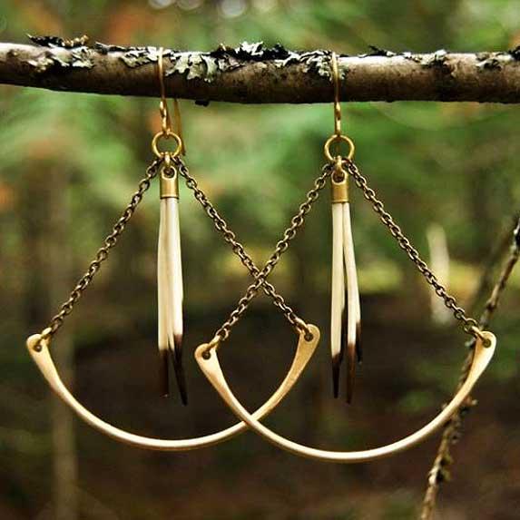 Beautiful hanging earrings