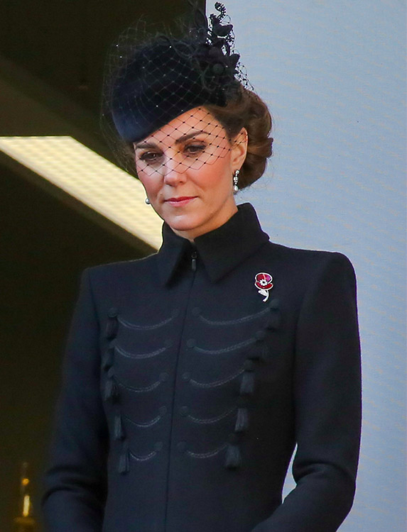 Kate Middleton at Remembrance Day 2019