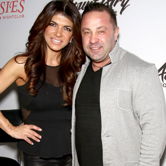 Teresa and Joe Giudice attend an event.