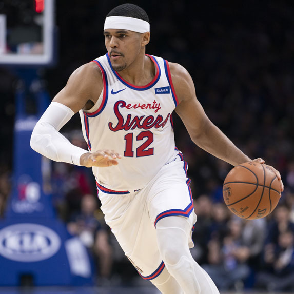 Tobias Harris playing for the Philadelphia 76ers