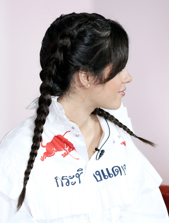 Camila Cabello wears her hair in boxer braids