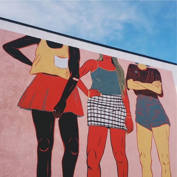 Mural of powerful women