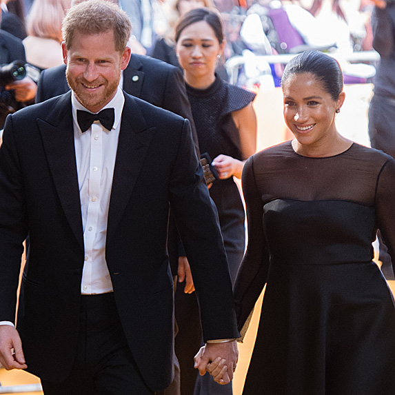 Prince Harry and Meghan Markle on the red carpet