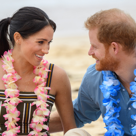 Prince Harry, Duke of Sussex and Meghan, Duchess of Sussex visit Bondi beach on October 19, 2018 in Sydney, Australia. The Duke and Duchess of Sussex are on their official 16-day Autumn tour visiting cities in Australia, Fiji, Tonga and New Zealand.