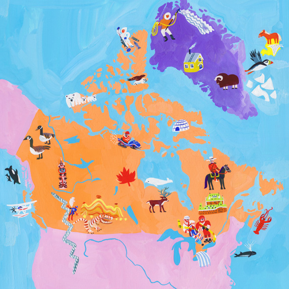 Graphic map of Canada