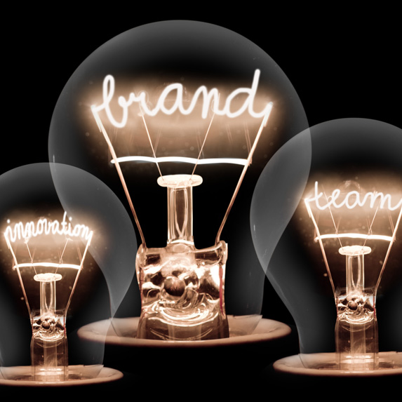 Advertising themed light bulbs