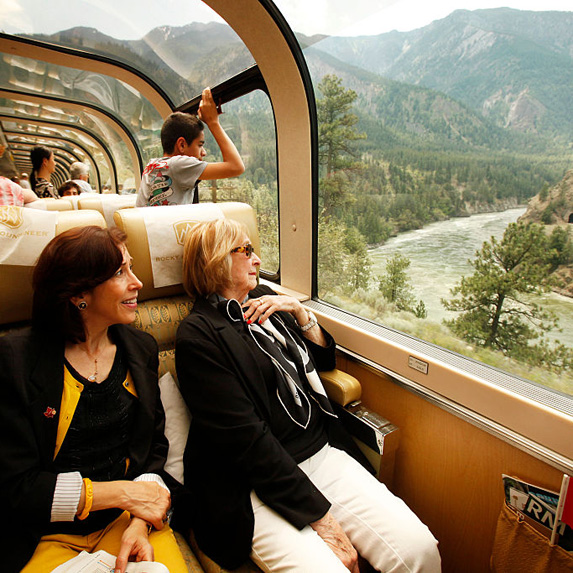 Passangers on the Rocky Mountaineer