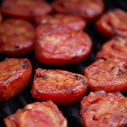 Grilled tomato halves