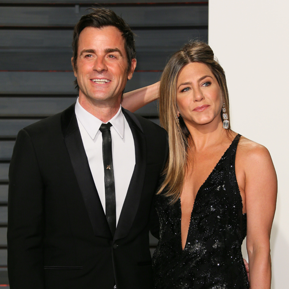 Justin Theroux and Jennifer Aniston on the red carpet
