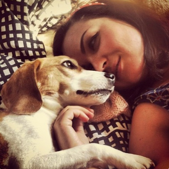 Janna and the beagle