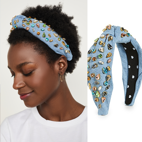 Bedazzled Denim Hairbands Are Also Back!