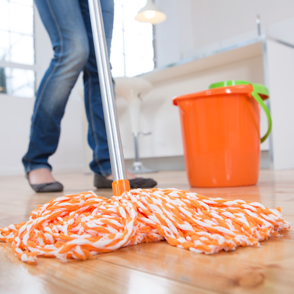 Person mopping