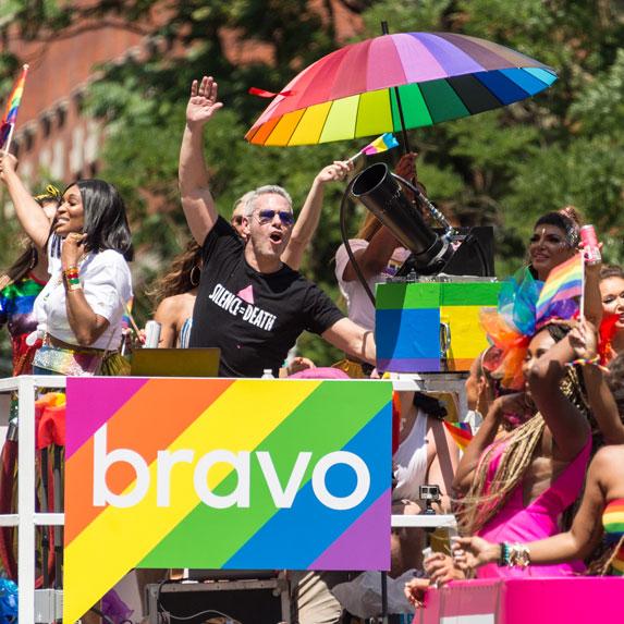 Andy Cohen at Pride parade