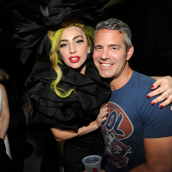 Andy Cohen and Lady Gaga