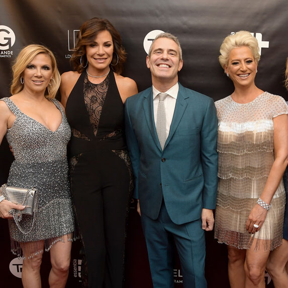 Andy Cohen with the cast of The Real Housewives of New York