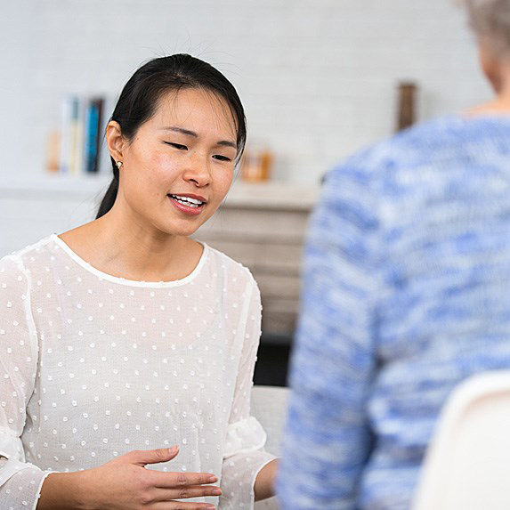 Woman at therapy
