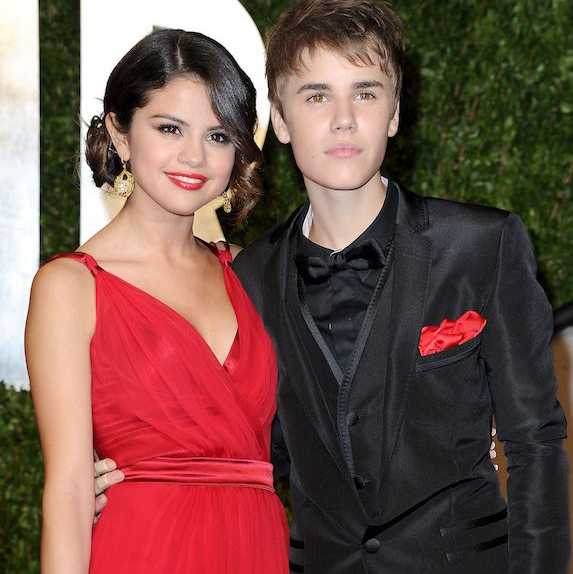 Selena Gomez and Justin Bieber in eveningwear