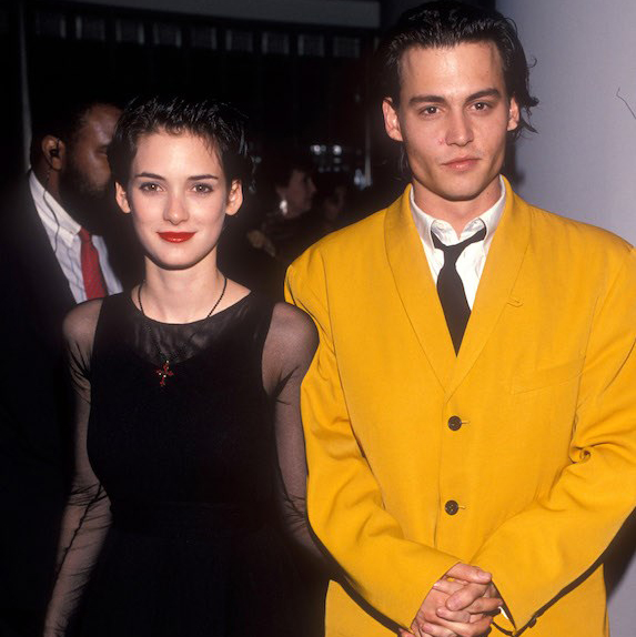 1989: Johnny Depp and Winona Ryder