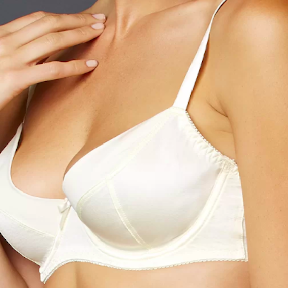 white bra silk