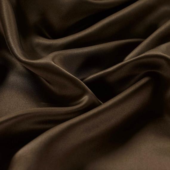 dark brown silk bedsheet