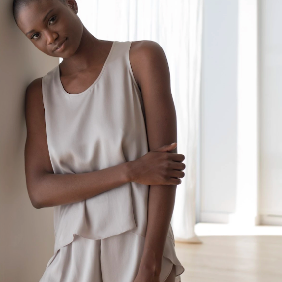 sleeveless pajamas silk shorts