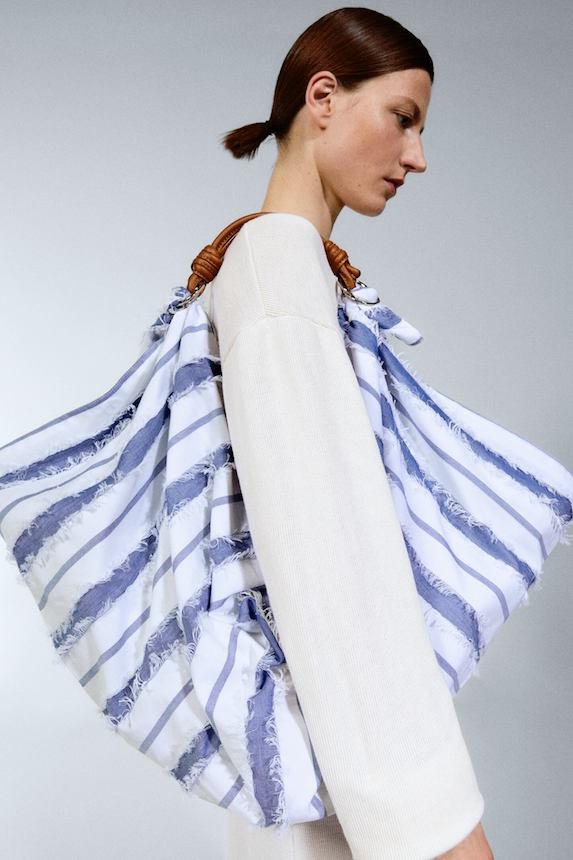Model wears Zara bag