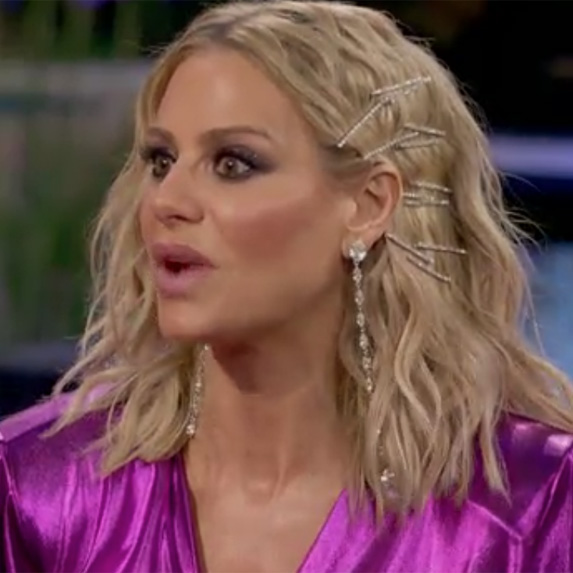Dorit Kemsley's diamond-encrusted bobby pins hair